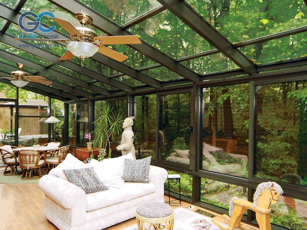 Фото террас с прозрачной крышей