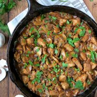 Hearty And Comforting Chicken Mushroom Stew